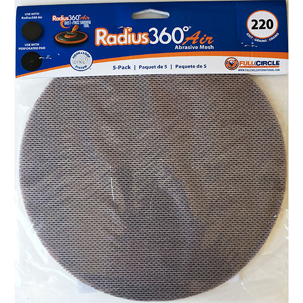 full circle sanding disc for radius 360 220 grit 5pk paint supplies direct. Black Bedroom Furniture Sets. Home Design Ideas
