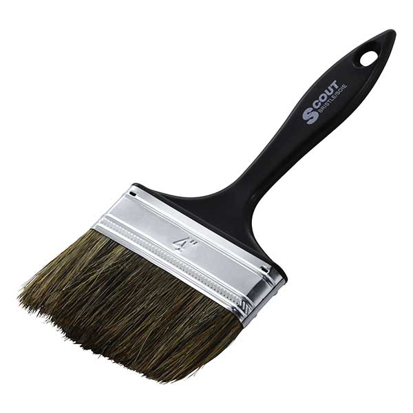 scout bristle brush 4""