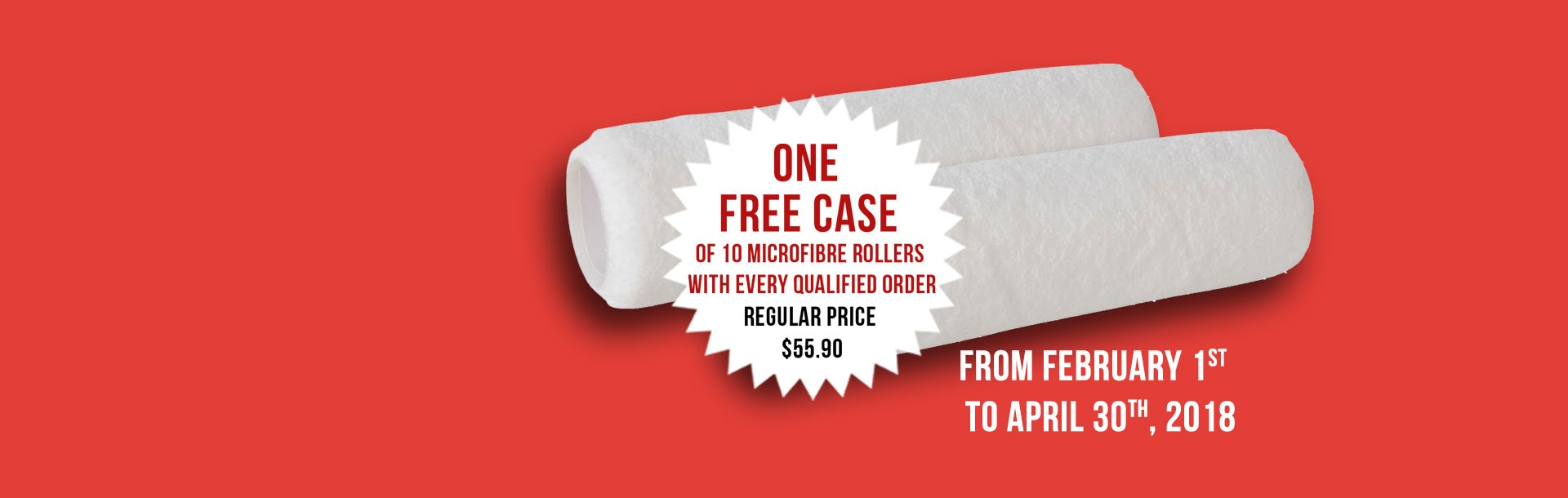 Get one free case of rollers with your purchase