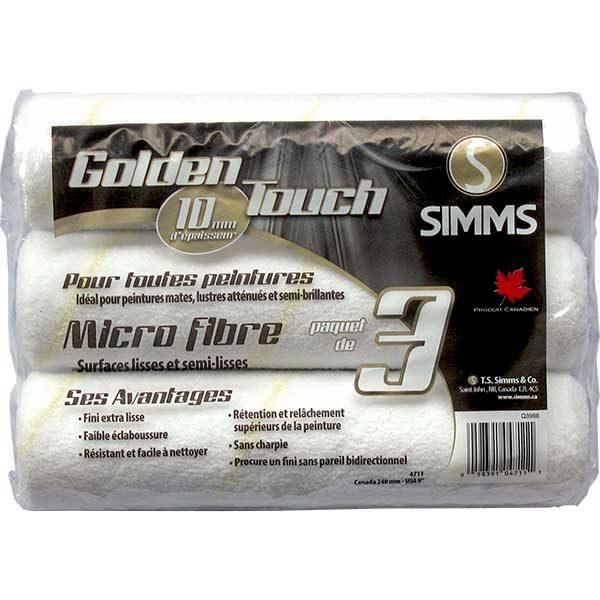 Simms 10mm Microfiber roller refills- 3 Pack